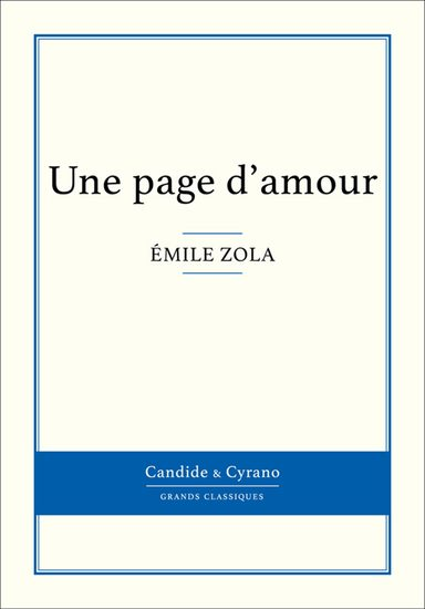 Une page d'amour - cover