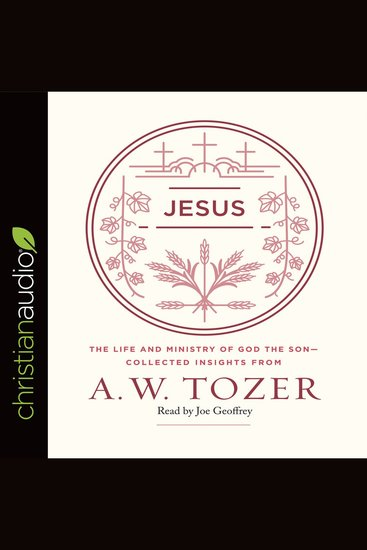 Jesus - The Life and Ministry of God the Son -- Collected Insights from A W Tozer - cover