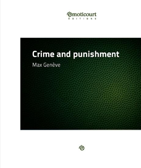 Crime and Punishment - Récit à deux voix - cover