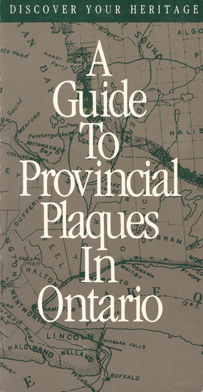 Discover Your Heritage - A Guide to Provincial Plaques in Ontario - cover