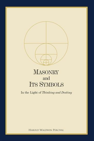 Masonry and Its Symbols - cover