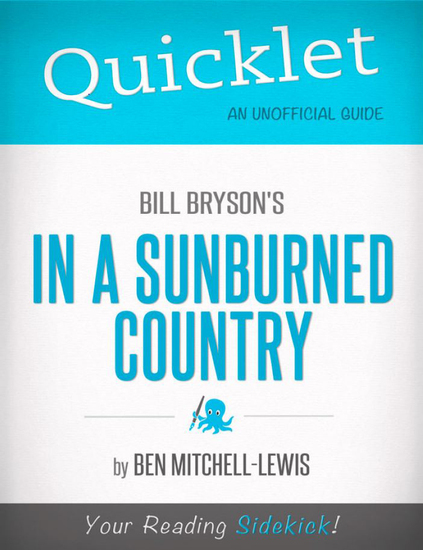 Quicklet on Bill Bryson's In a Sunburned Country (CliffNotes-like Summary) - cover