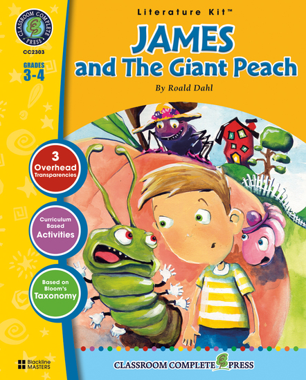 James and the Giant Peach (Roald Dahl) - cover