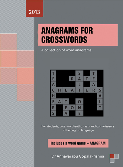 Anagrams for Crosswords - A Collection of Word Anagrams - cover
