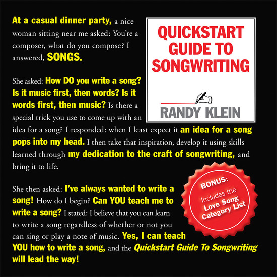 Quickstart Guide to Songwriting - cover