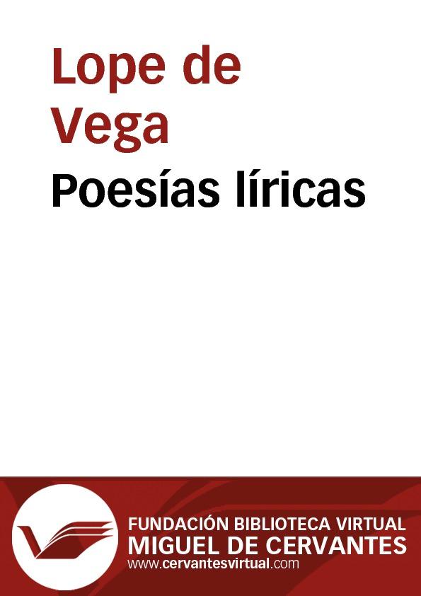Poesías líricas - cover
