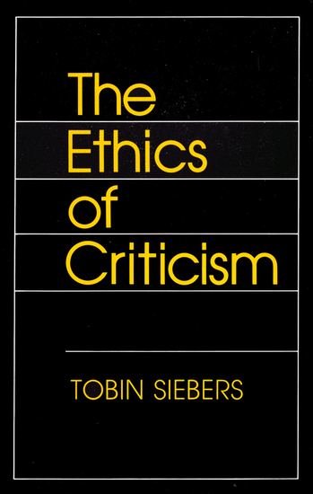 The Ethics of Criticism - cover