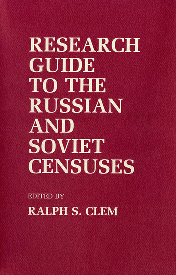 Research Guide to the Russian and Soviet Censuses - cover