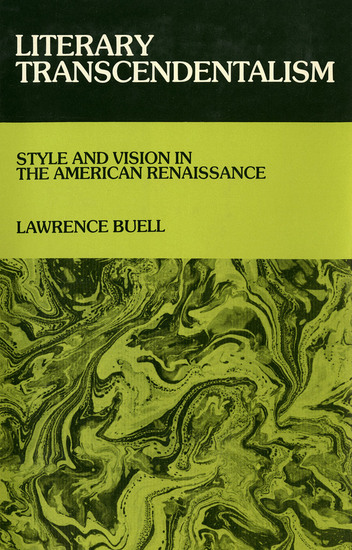 Literary Transcendentalism - Style and Vision in the American Renaissance - cover
