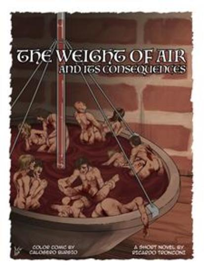 The weight of air - colored comic and short novel - cover