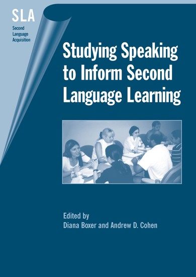 Studying Speaking to Inform Second Language Learning - cover