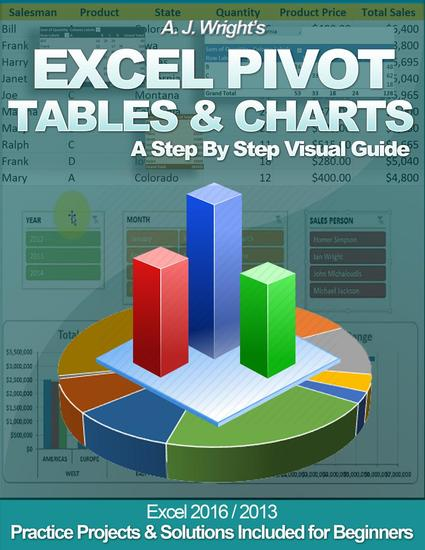 Excel Pivot Tables & Charts - A Step By Step Visual Guide - cover