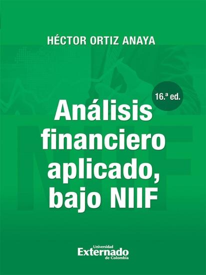 Análisis financiero aplicado bajo NIIF (16a Edición) - cover