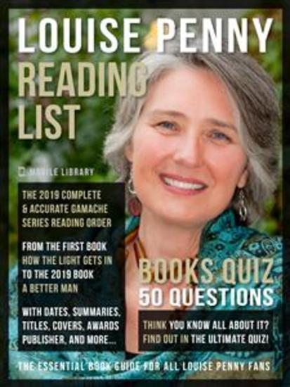 Louise Penny Reading List and Books Quiz - Complete Louise Penny Books Checklist with Reading Order of Chief Inspector Armand Gamache Series and details of all the 17 books (updated 2021) plus a Books Quiz - cover