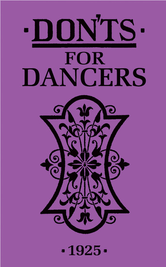 Don'ts for Dancers - cover