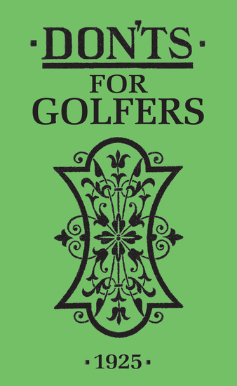 Don'ts for Golfers - cover