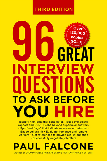 96 Great Interview Questions to Ask Before You Hire - cover