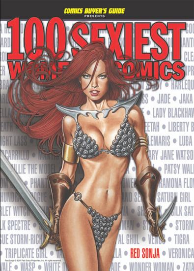 100 Sexiest Women in Comics - cover