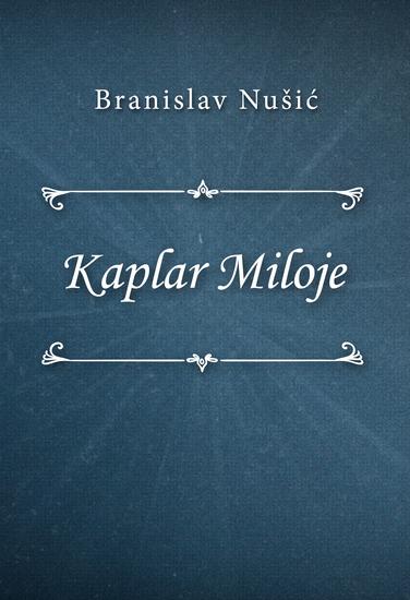 Kaplar Miloje - cover