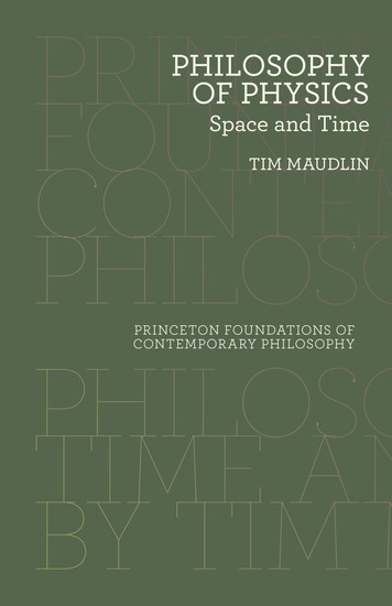 Philosophy of Physics - Space and Time - cover