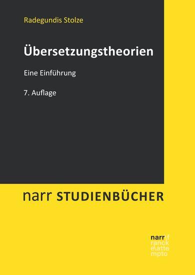 Übersetzungstheorien - Eine Einführung - cover