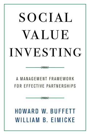 Social Value Investing - A Management Framework for Effective Partnerships - cover