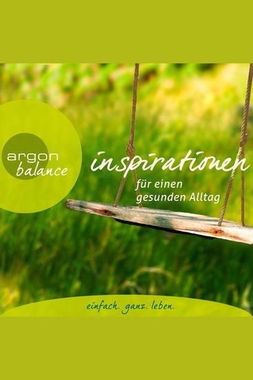 Inspirationen - Für einen gesunden Alltag (Gekürzte Lesung) - cover