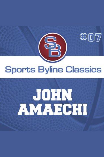 Sports Byline: John Amaechi - cover