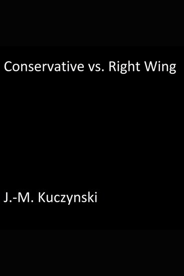 Conservative vs Right Wing - cover