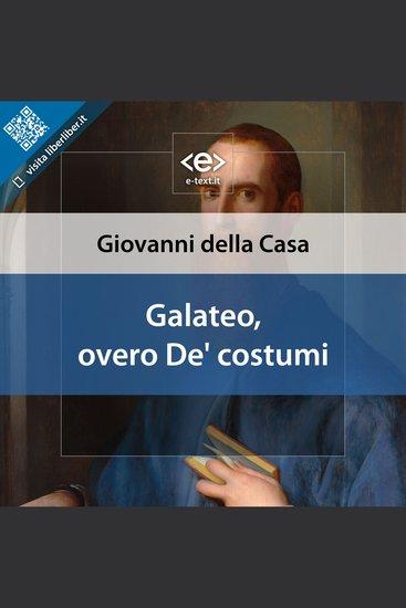 Galateo overo De' costumi - cover