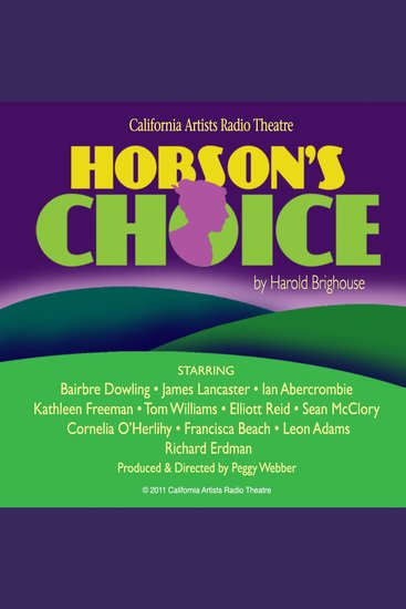 Hobson's Choice - cover