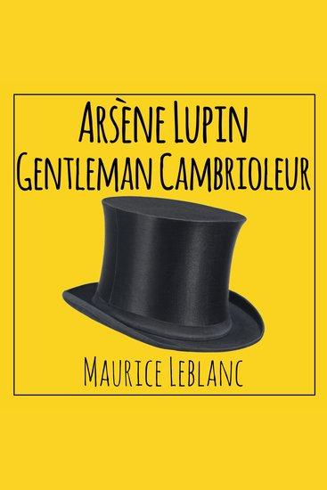 Arsène Lupin Gentleman Cambrioleur - cover