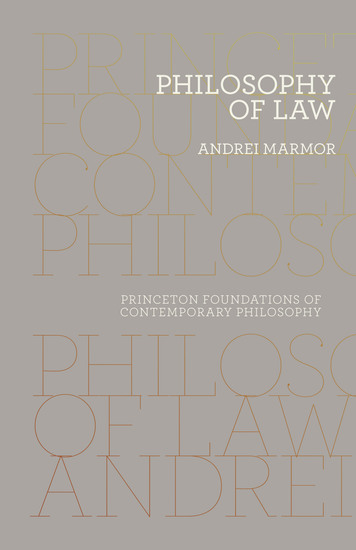 Philosophy of Law - cover