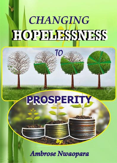 Changing Hopelessness to Prosperity - cover