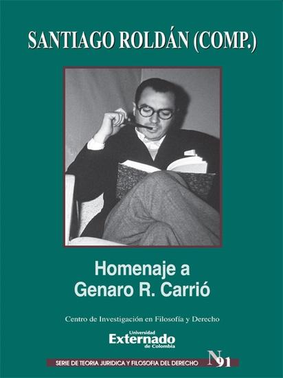 Homenaje a Genaro R Carrió - cover