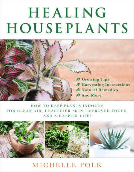 Healing Houseplants - How to Keep Plants Indoors for Clean Air Healthier Skin Improved Focus and a Happier Life! - cover