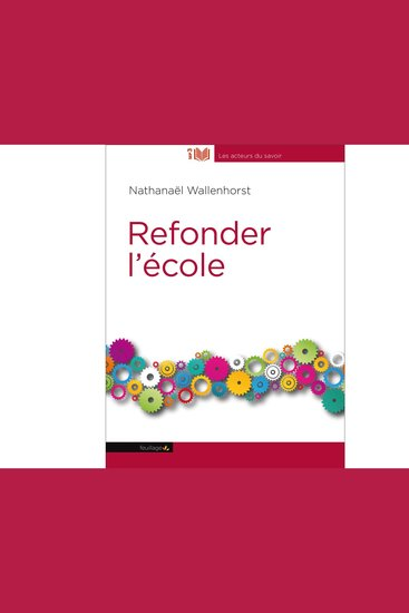 Refonder L'Ecole - cover