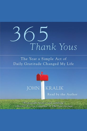 365 Thank Yous - The Year a Simple Act of Daily Gratitude Changed My Life - cover