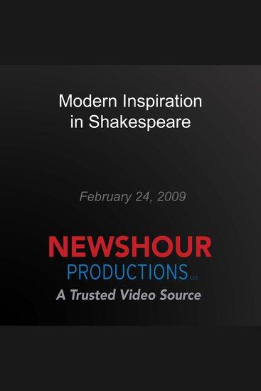 Modern Inspiration in Shakespeare - cover