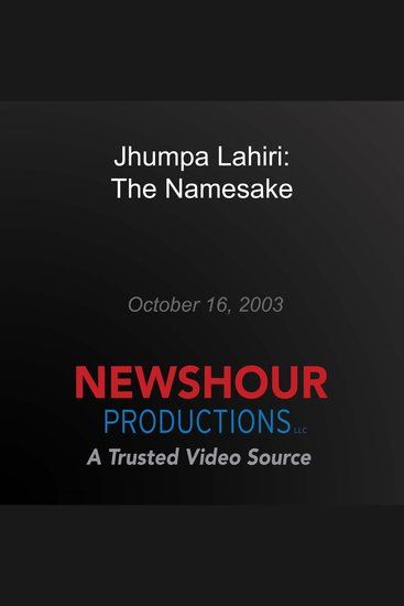 Jhumpa Lahiri: The Namesake - cover