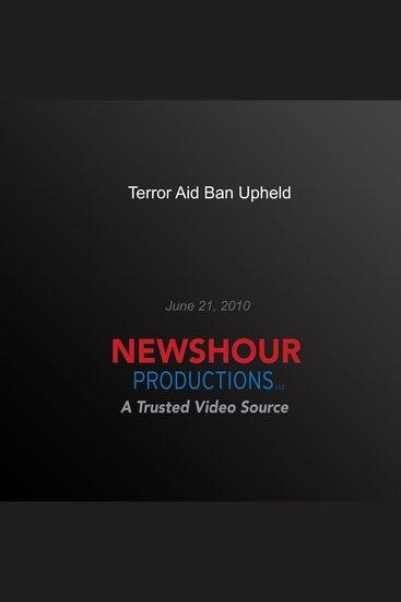 Terror Aid Ban Upheld - cover