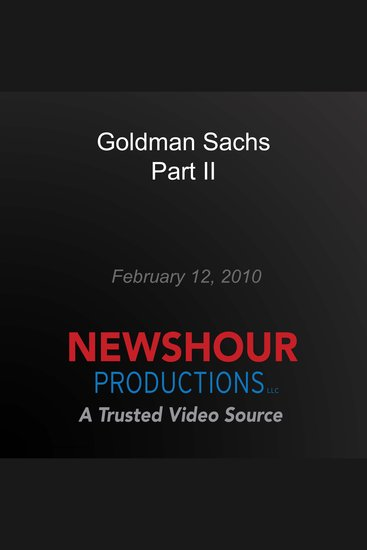 Goldman Sachs Part II - cover