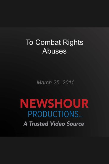 To Combat Rights Abuses - cover