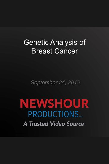 Genetic Analysis of Breast Cancer - cover