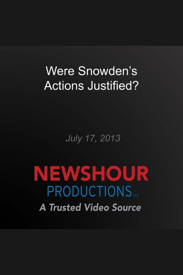 Were Snowden's Actions Justified? - cover