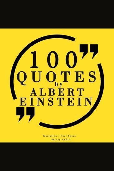 100 quotes by Albert Einstein - cover