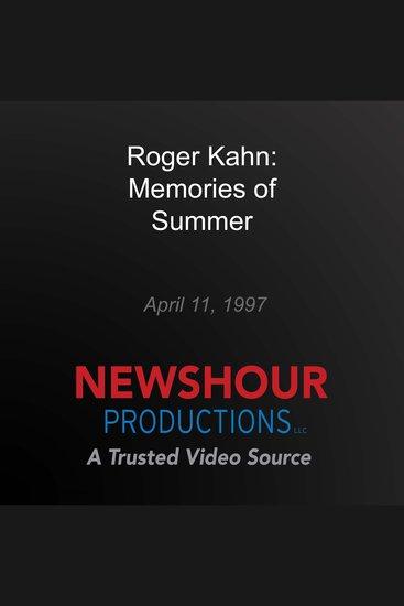 Roger Kahn: Memories of Summer - cover