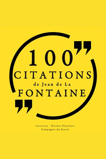 100 citations de Jean de la Fontaine - cover