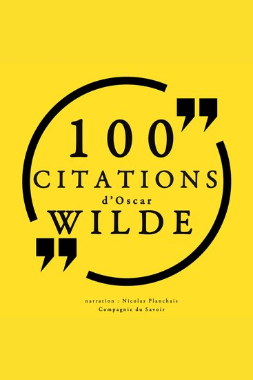 100 citations d'Oscar Wilde - cover