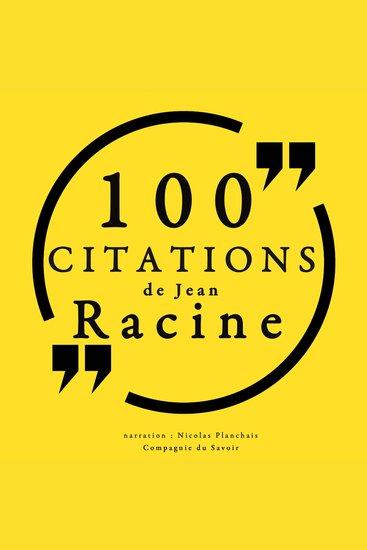 100 citations de Jean Racine - cover